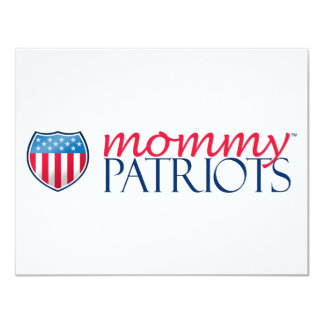Mommy Patriots 11 Cm X 14 Cm Invitation Card