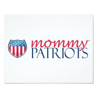Mommy Patriots 11 Cm X 14 Cm Invitation Card