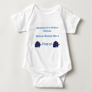 Mommy Police Office Cop-y Shirt! Baby Bodysuit