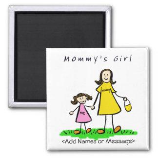 Mommy s Girl - Mother Daughter Brunette Magnet