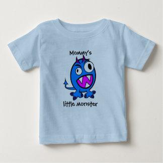 Mommy's Little Monster- Blue Version Baby T-Shirt