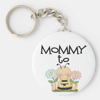 MOMMY TO BE/Bee Basic Round Button Key Ring