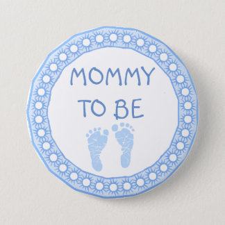 Mommy to be Blue Boy Baby Shower button