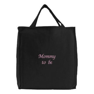 Mommy to be embroidered bag
