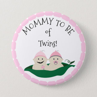 Mommy to be of Twins Baby Shower button