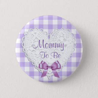 Mommy to be Purple Baby Shower Button