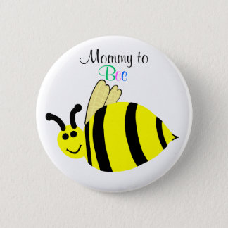 Mommy To Bee Cute Yellow Bumble Bee Maternity 6 Cm Round Badge