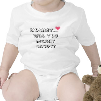 mommy will you marry daddy t-shirts