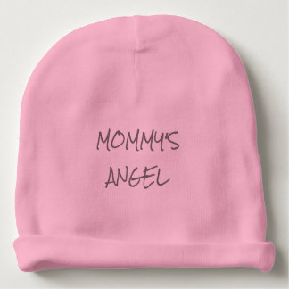"""MOMMY'S ANGEL"" Baby Girl Cotton Beanie Baby Beanie"