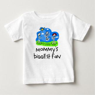 Mommy's Biggest Fan Stick Figure T-shirts