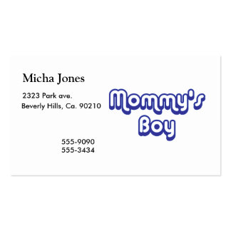 Mommy's Boy Double-Sided Standard Business Cards (Pack Of 100)