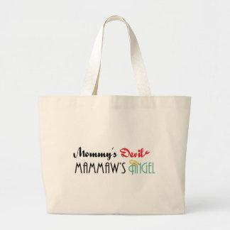 Mommy's Devil, Mammaw's Angel Jumbo Tote Bag