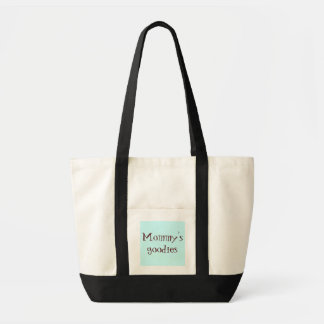 Mommy's goodies canvas bags