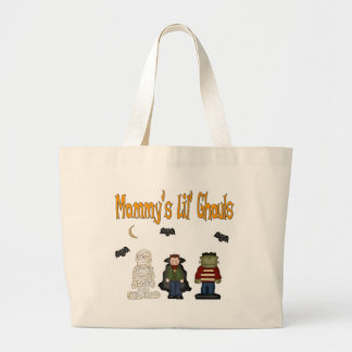 MOMMY'S Lil Ghouls (TRIPLETS) Tote Bag