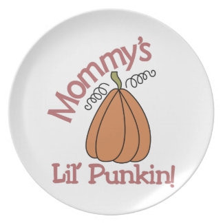 Mommy's Lil' Punkin! Dinner Plates