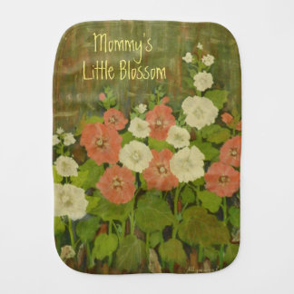Mommy's Little Blossom Burp Cloth
