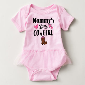 MOMMY'S LITTLE COWGIRL Tutu Bodysuit