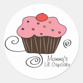 Mommy's Little Cupcake Round Sticker