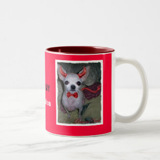 Mommy's Little Devil ( Chihuahua ) Two-Tone Coffee Mug