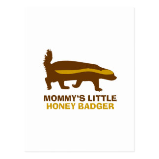 Mommy's Little Honey Badger Postcard