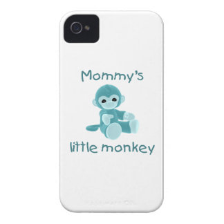 Mommy's Little Monkey (teal) Case-Mate iPhone 4 Cases