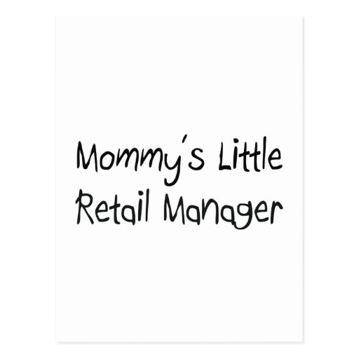 Mommys Little Retail Manager Post Card
