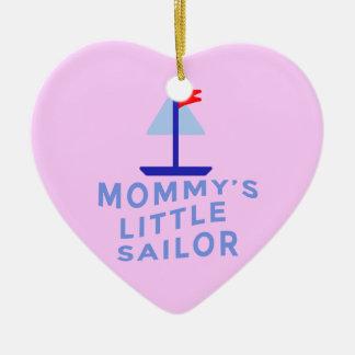 Mommy's Little Sailor Ceramic Heart Decoration