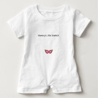 Mommy's Little Sidekick superhero mask pink Baby Bodysuit