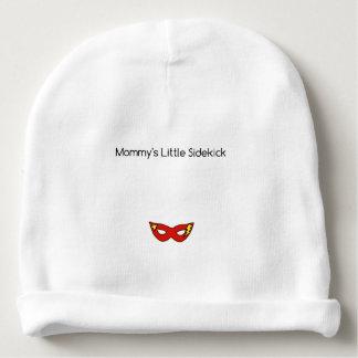 Mommy's Little Sidekick superhero mask unisex Baby Beanie
