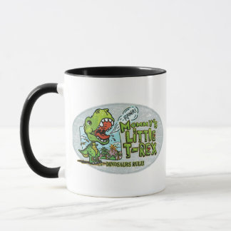 Mommy's Little T Rex Oval Mug