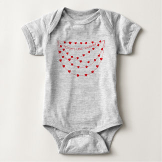 Mommy's Little Valentine   Valentine's Day Outfit Baby Bodysuit
