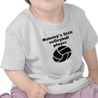 Mommy's Little Volleyball Player Tshirt