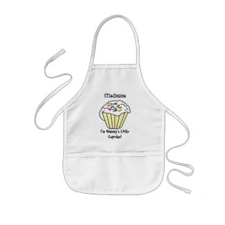 Mommy's Little Yellow Cupcake Kids Apron