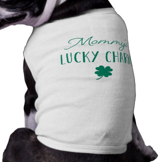 Mommy's Lucky Charm | Cute St. Patrick's Day Sleeveless Dog Shirt