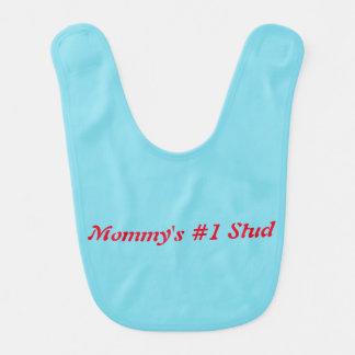 Mommys number one stud bib