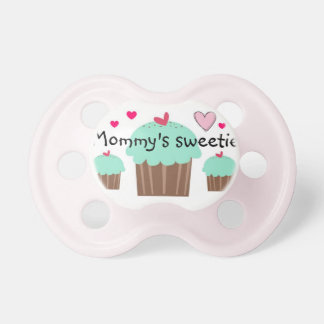 """Mommy's Sweetie"" Cupcake Pacifier"