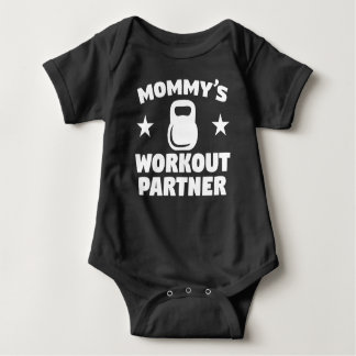 Mommy's Workout Partner Baby Bodysuit