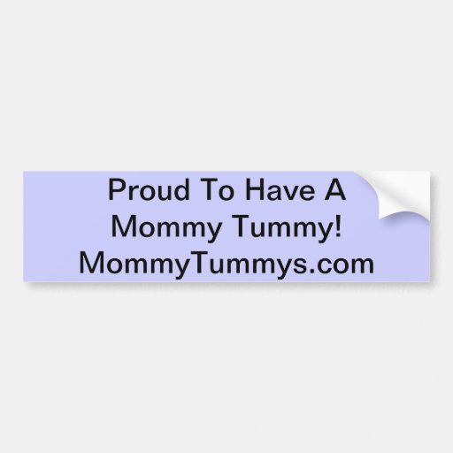 MommyTummys Bumper Sticker