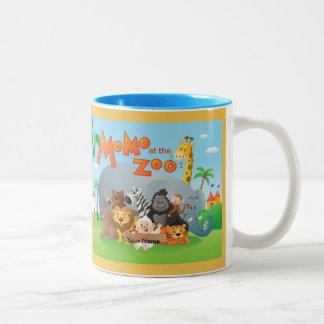 Momo At The Zoo Two-Tone Mug