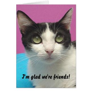 Momo - I'm glad we're friends! Blank Card
