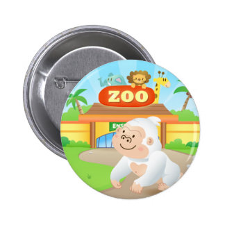 Momo Leaving Zoo Button 2 Inch Round Button