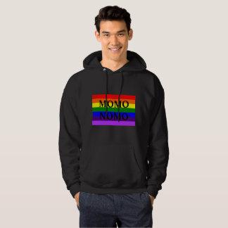 MOMO Nomo Men's Black Gay Pride Hoodie - Bold