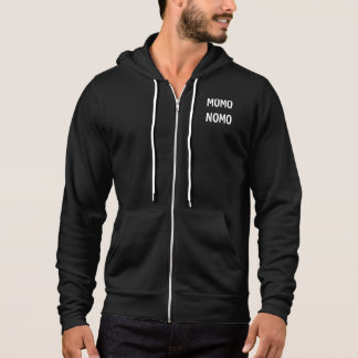 MOMO NOMO Men's Zip up sweater - black
