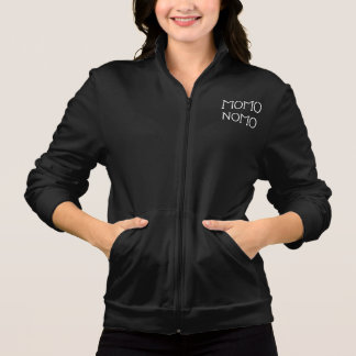MOMO NOMO Women's black zip up sweater