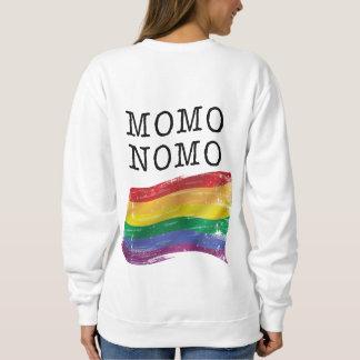 MOMO NOMO Women's White Rainbow Pride Sweatshirt