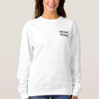 MOMO NOMO Women's White Sweatshirt Sweatshirt