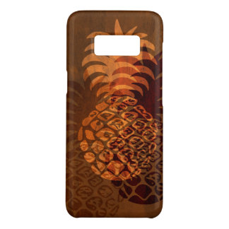 Momona Pineapple Hawaiian Tropical Faux Koa Wood Case-Mate Samsung Galaxy S8 Case