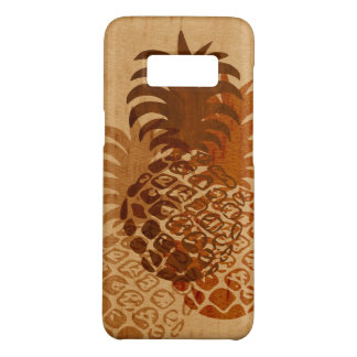 Momona Pineapple Hawaiian Tropical Faux Wood Case-Mate Samsung Galaxy S8 Case