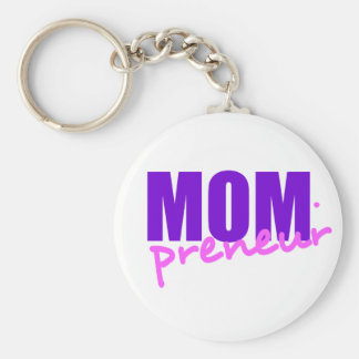 Mompreneur With Dot Hyphen, Two Colors Key Ring