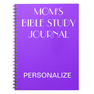 MOM'S BIBLE STUDY JOURNAL Purple Personalize Note Book